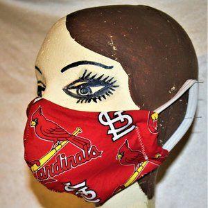 St Louis Cardinal Washable Face Mask Lot (4)